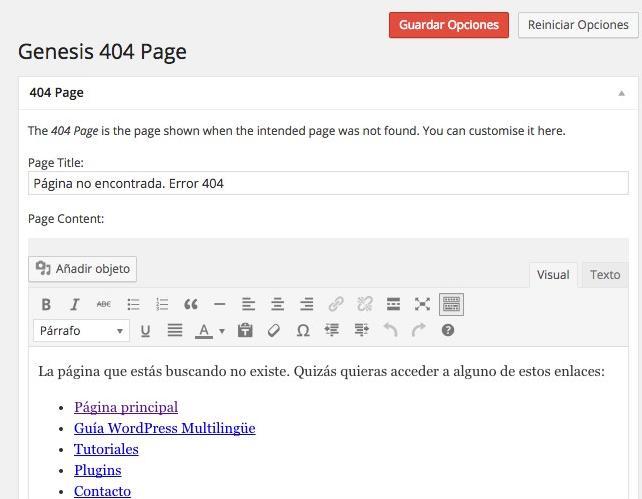 pagina error 404 español