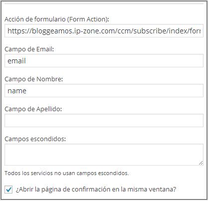 formulario widget 2