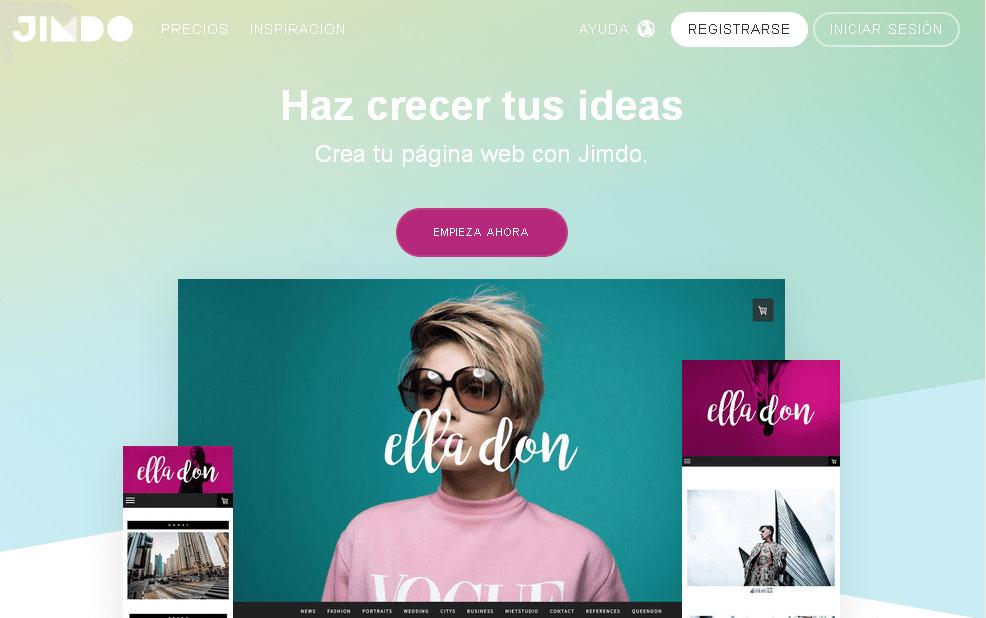 crear un bloga gratis en jimdo