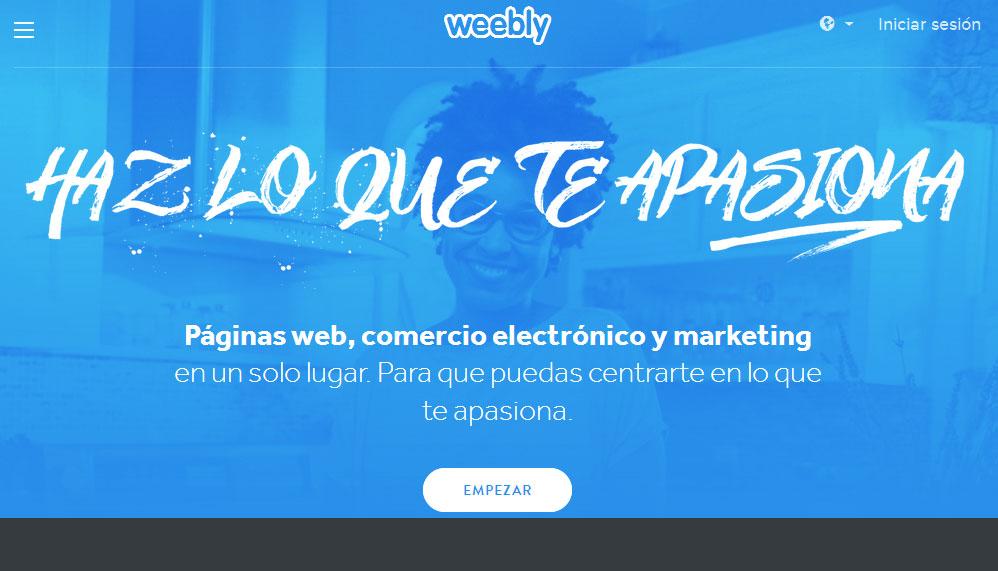 crear un bloga gratis en weebly