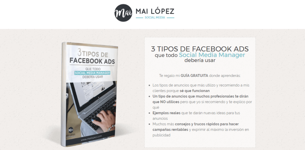 lead page maite lopez