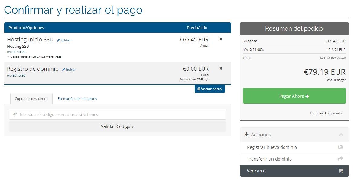 comprar hosting y dominio