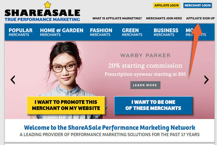 shareasale registro