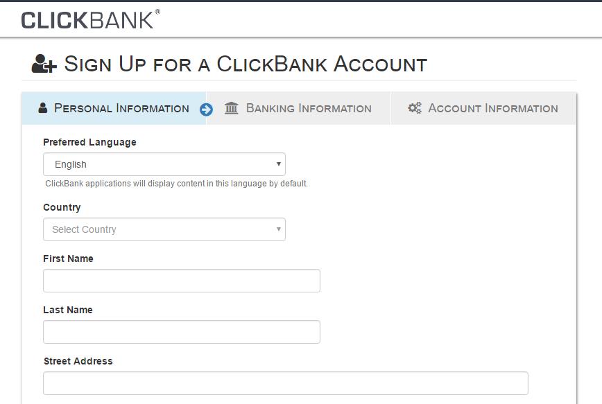 registrarse en clickbank