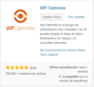 optimizar la base de datos de wordpress