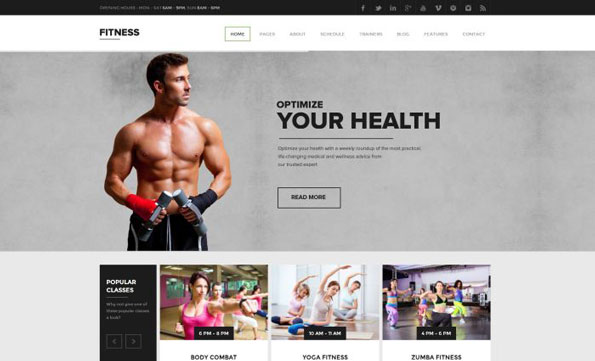 plantillas para wordpress fitness