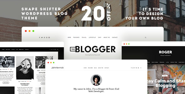 template wordpress the blogger