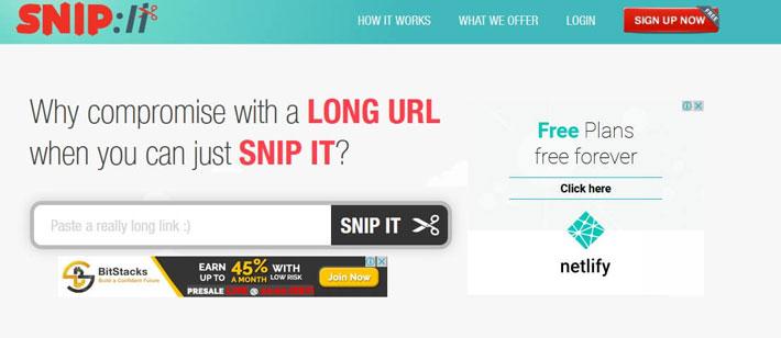 cortador url Snip URL