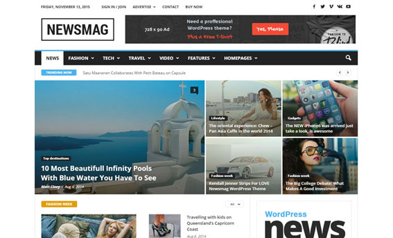 mejor tema para wordpress news mag