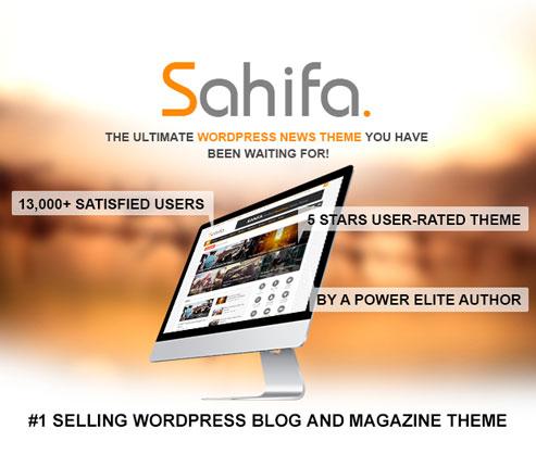 Sahifa mejor tema para wordpress
