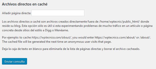wp super cache archivos directos