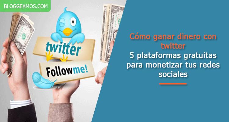 como ganar dinero con twitter