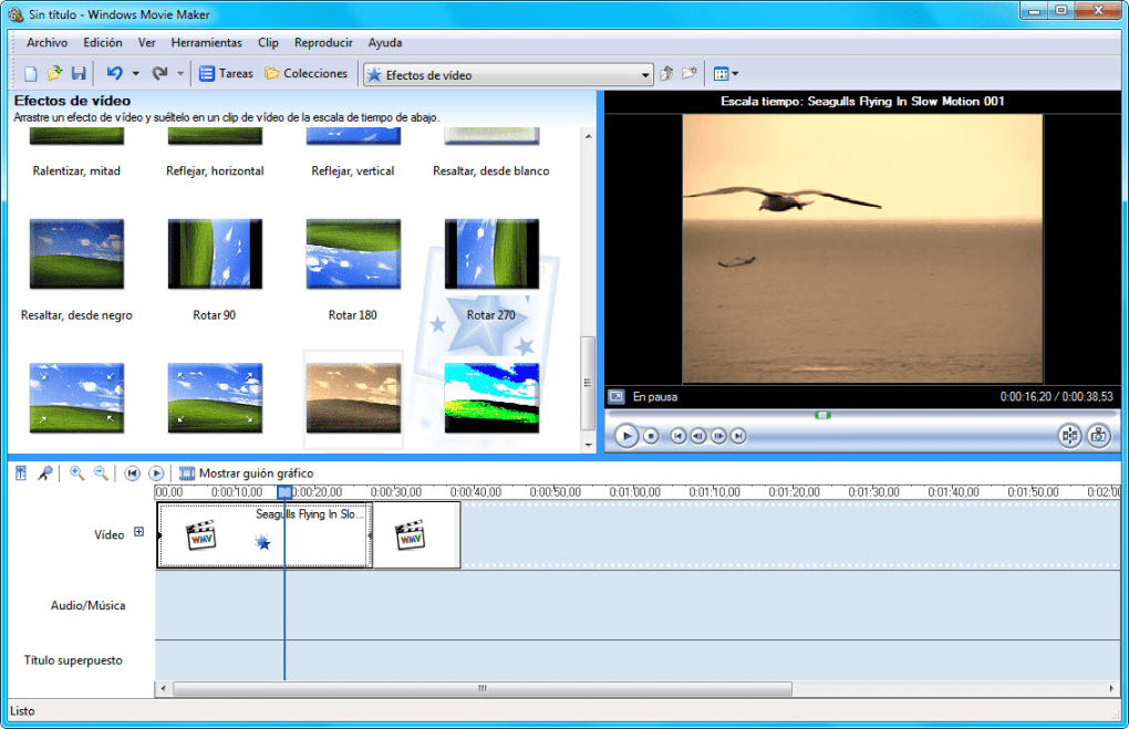 editor de videos gratis windows movie maker-